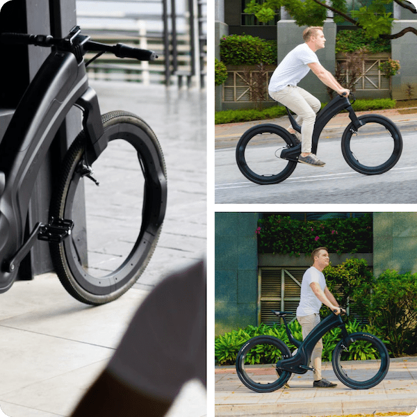 Reevo hubless eBike is completely spokeless