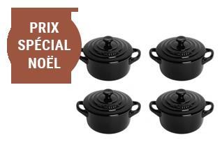 Coffret 4 mini cocottes céramique - Le Creuset