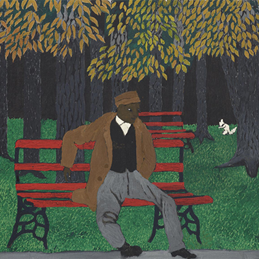 """""""The Park Bench"""" (detail) by Horace Pippin"""
